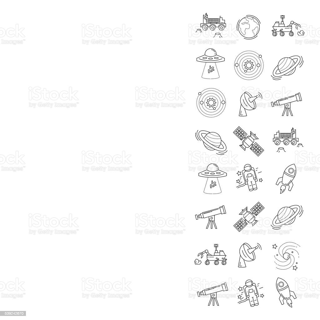 Vector set of space and astronomy icons royalty-free vector set of space and astronomy icons stock vector art & more images of alien