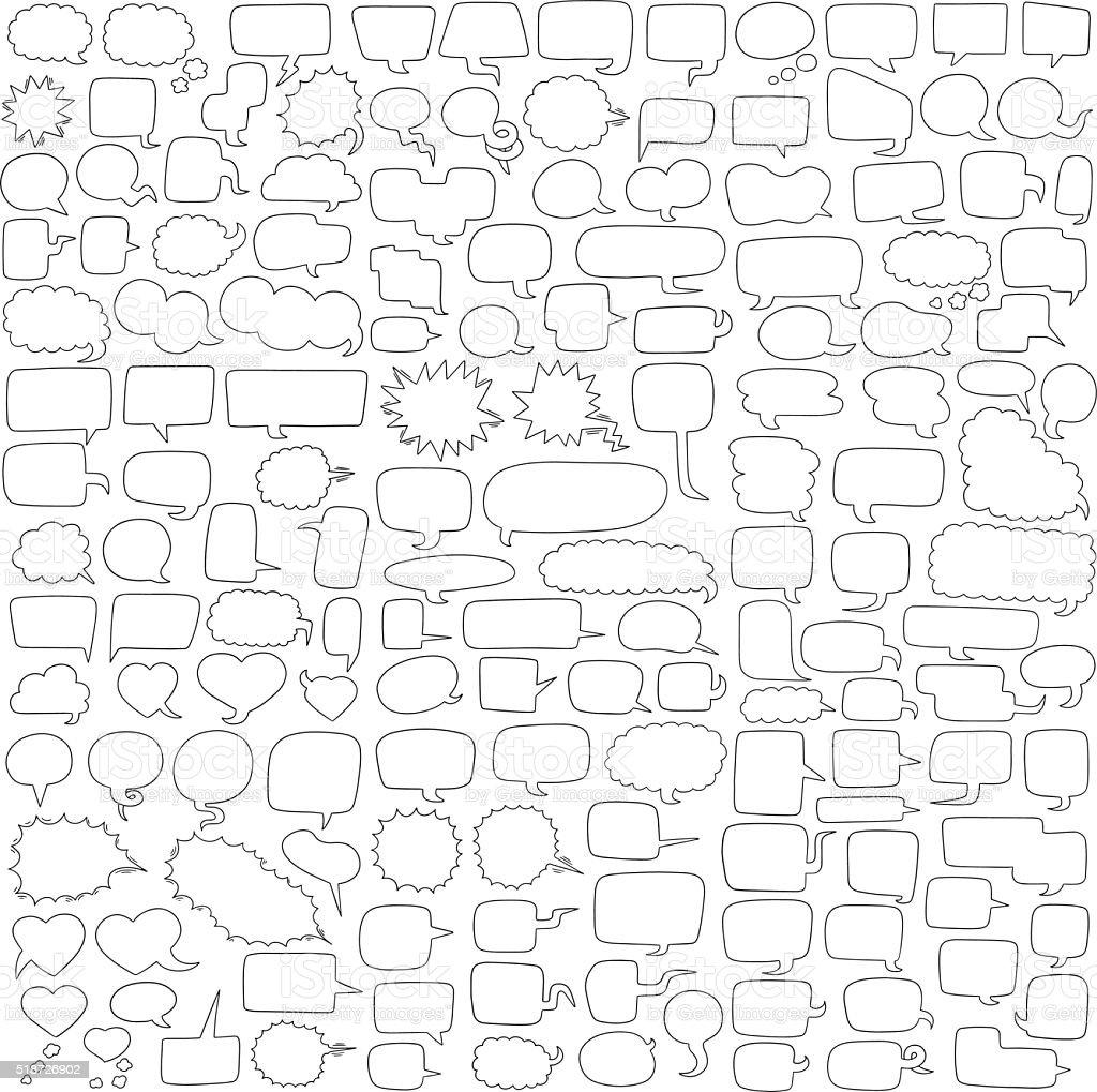 vector conjunto de bolhas de discurso - ilustração de arte em vetor