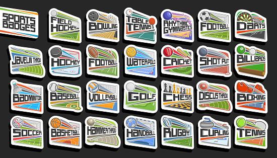 Vector set of Sports Badges