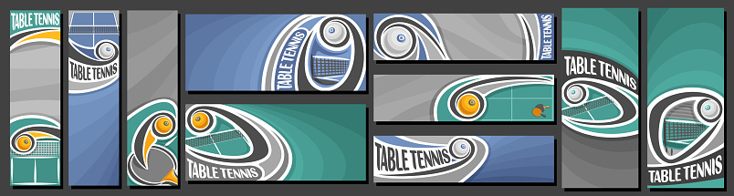 Vector set of Table Tennis Banners