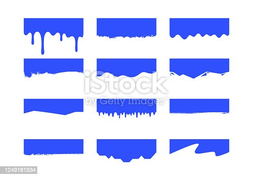 istock Vector Set of Template Dividers Shapes. Abstract Design Elements for Top and Bottom on Website, App, Banners or Posters 1249181534