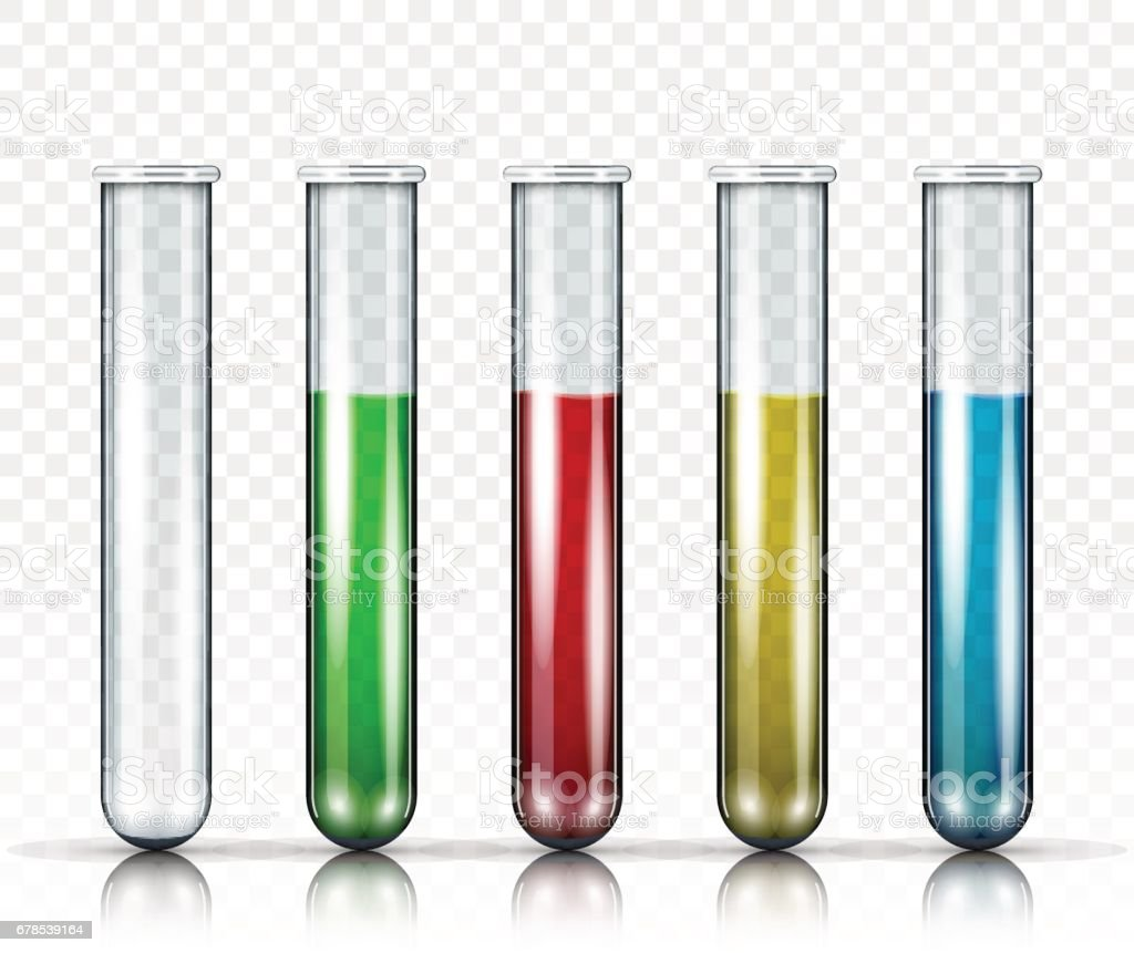 Vector Set Of Test Tubes vector art illustration