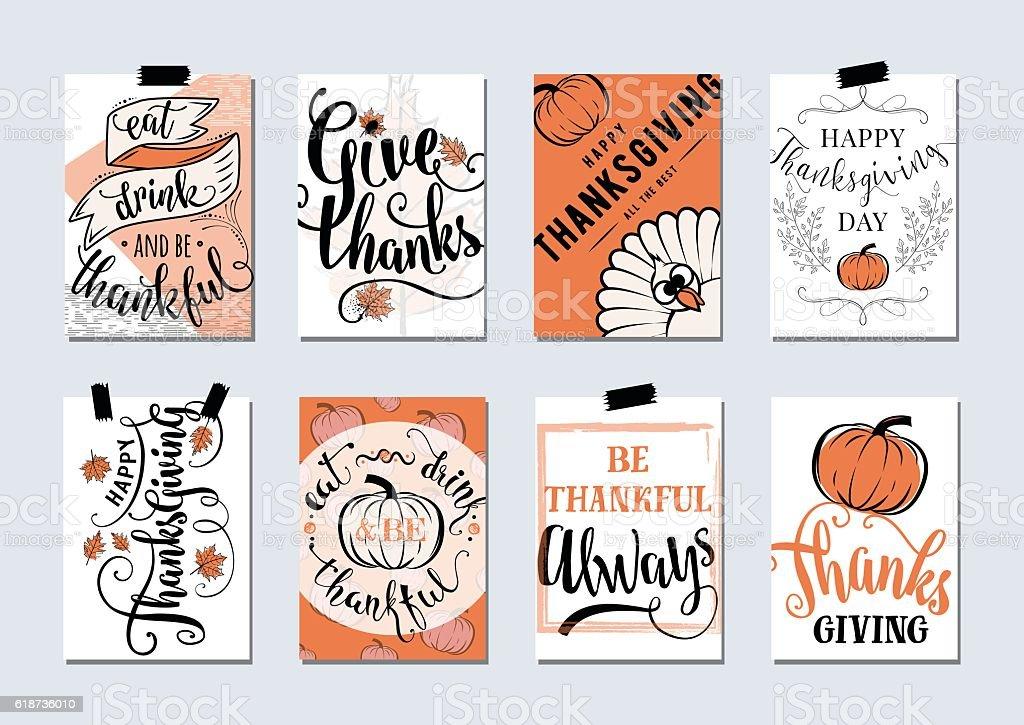 Vector set of thanksgiving holidays vector art illustration