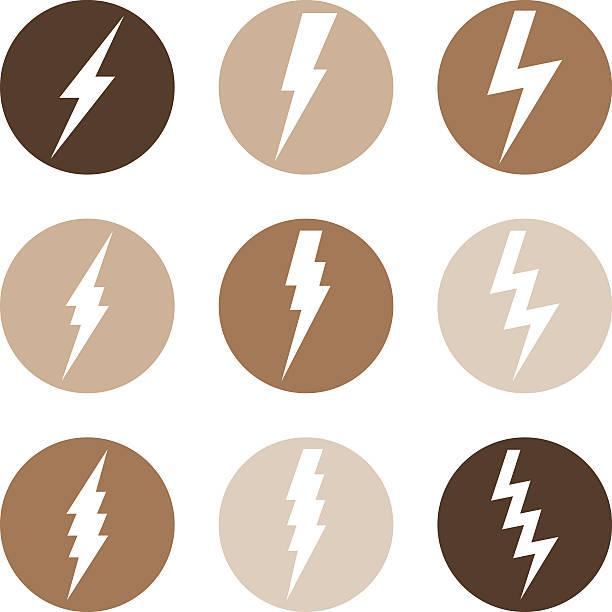 Vector Set of Thunder Lighting Icons Vector Set of Thunder Lighting Icons forked lightning stock illustrations