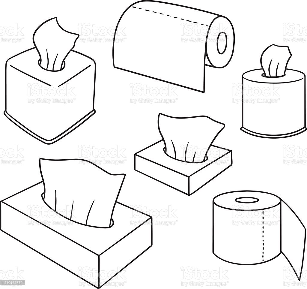 Vektorset mit seidenpapier stock vektor art und mehr bilder von badezimmer 510155772 istock - Badezimmer comic ...