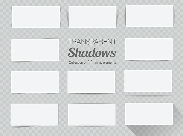 векторный набор прозрачной реалистичные тени для проектирования - тень stock illustrations