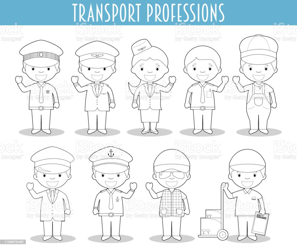 Ilustración De Conjunto Vectorial De Profesiones De