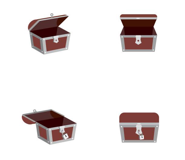 Vector set of Treasure box Vector set of Treasure box antiquities stock illustrations