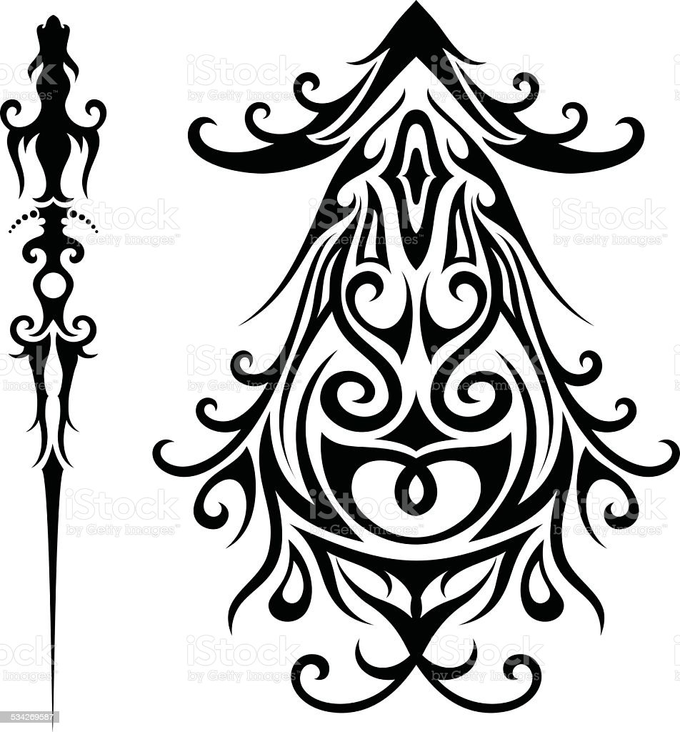 royalty free silhouette of a male shoulder tattoo clip art  vector images  u0026 illustrations