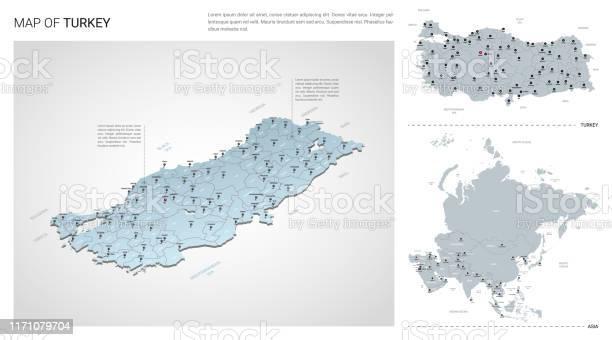 Turkey Map Vector Art & Graphics | freevector.com