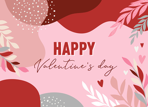 Vector set of Valentines day abstract backgrounds with copy space for text - banners, posters, cover design templates, social media stories wallpapers. Vector design