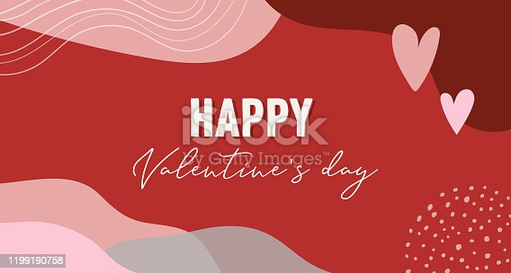 istock Vector set of Valentines day abstract backgrounds with copy space for text - banners, posters, cover design templates, social media stories wallpapers. Vector design 1199190758