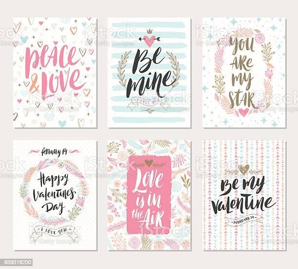 Vector set of valentines day hand drawn greetings vector id639318200?b=1&k=6&m=639318200&s=612x612&h=mb4k6bib9lwpvibes6n moyefwppx9z1lbt2ggotnyu=