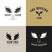 Vector set of vintage hunting emblems