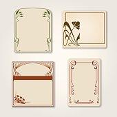 Vector set of vintage labels.