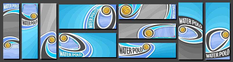 Vector set of Water Polo Banners