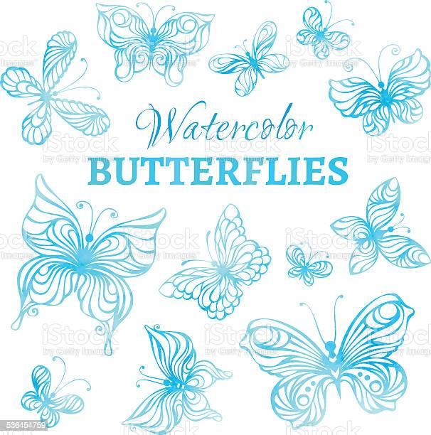 Vector set of watercolor butterflies vector id536454759?b=1&k=6&m=536454759&s=612x612&h=jo4jv9veagsryaq0zgm dye89xnf0pyb0tyjx7bpp i=
