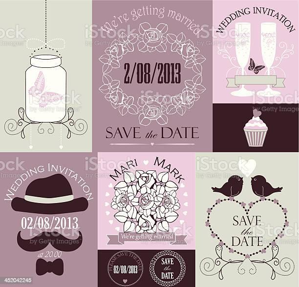 Vector set of wedding cards vector id452042245?b=1&k=6&m=452042245&s=612x612&h=p648ts6zjzv7afialk tqrifpzxdh  zsfzf quwvei=