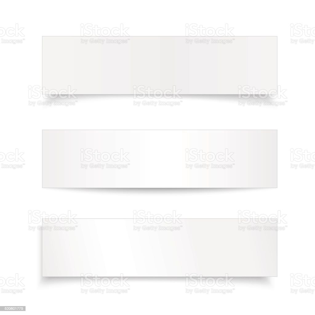 Vector set realistic paper sheet ,banner with different shadow vector art illustration