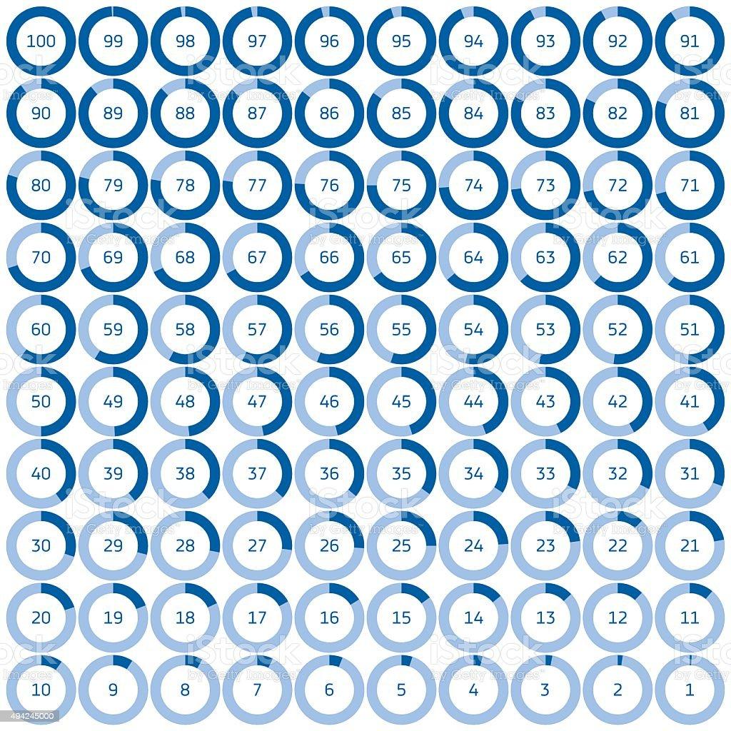 벡터 다이어그램, 기기 설정 링형 정보-그래픽 벡터 아트 일러스트