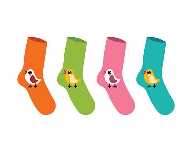 vector set socks patterned twitter bird on white - twitter 幅插畫檔、美工圖案、卡通及圖標