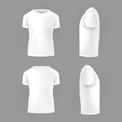 Vector set template of male T-shirts