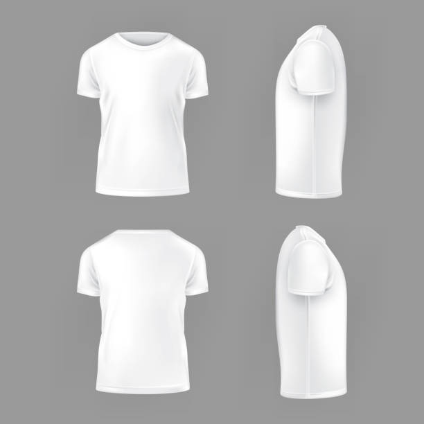 ilustraciones, imágenes clip art, dibujos animados e iconos de stock de vector set template of male t-shirts - moda preppy