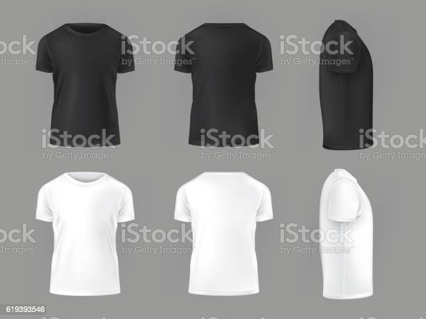 Vector Set Template Of Male Tshirts-vektorgrafik och fler bilder på Abstrakt