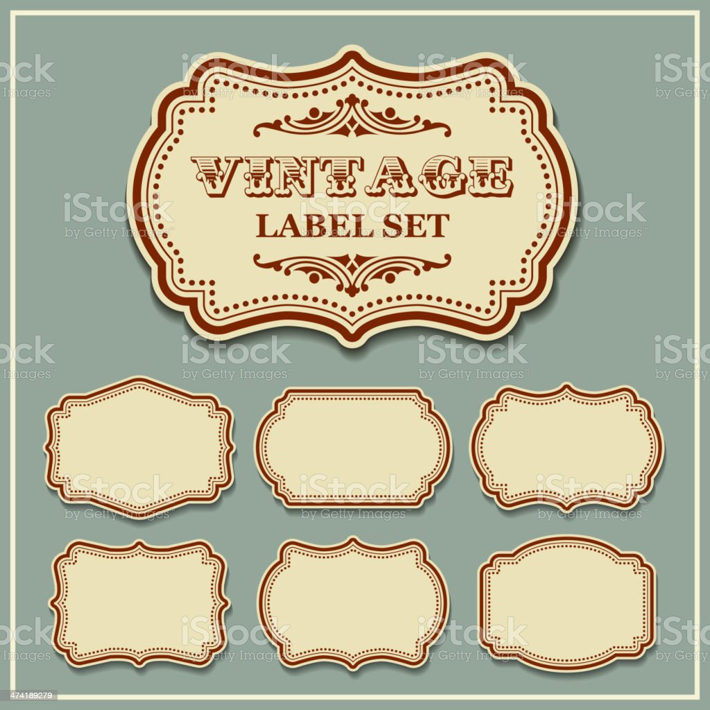 Vector set vintage labels vector art illustration