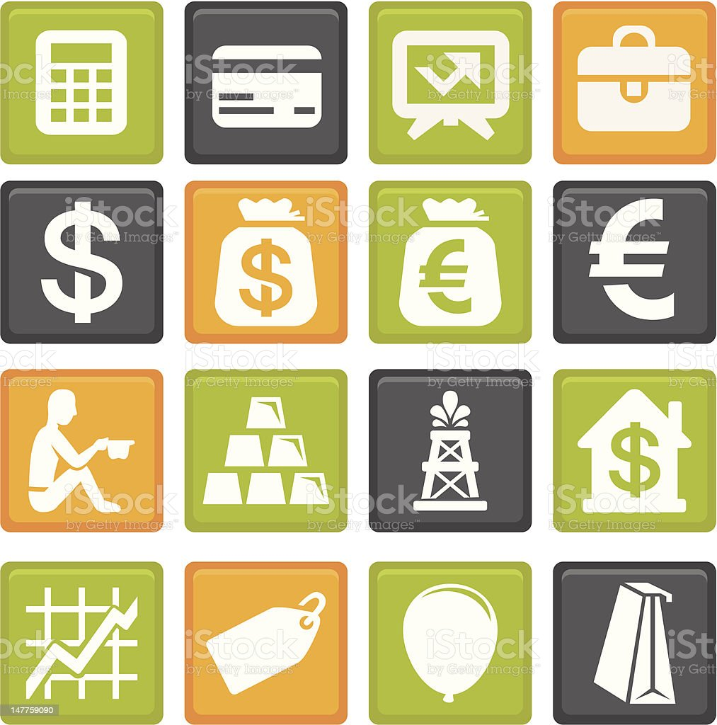 vector set with business and finance icons royalty-free stock vector art