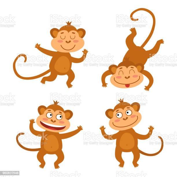 Scimmia Che Ride Disegno.Set Di Scimmia Che Ride Scarica Immagini Vettoriali Gratis