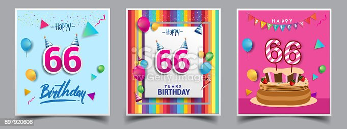 Vector sets of birthday invitation greeting card design with vector sets of birthday invitation greeting card design with confetti and balloons birthday cake colorful vector template elements for your birthday stopboris Image collections