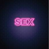 Vector sex neon sign vintage signage