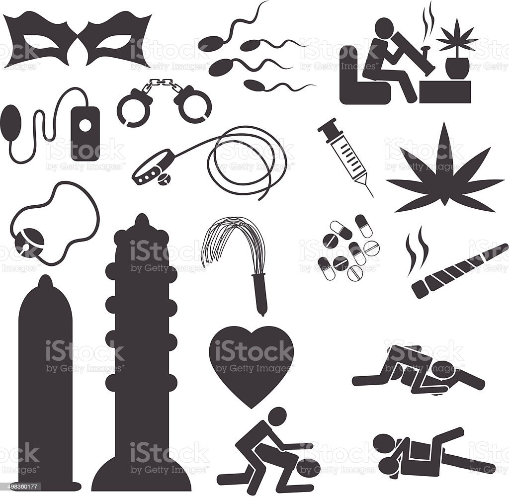 vector sex shop icons. vector  illustrations EPS10 vector art illustration