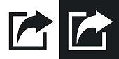 istock Vector share icon. Two-tone version 641944936