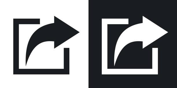 Vektor-Teilen-Symbol. Zweifarbige version – Vektorgrafik