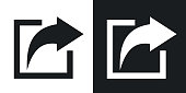 Vector share icon. Two-tone version
