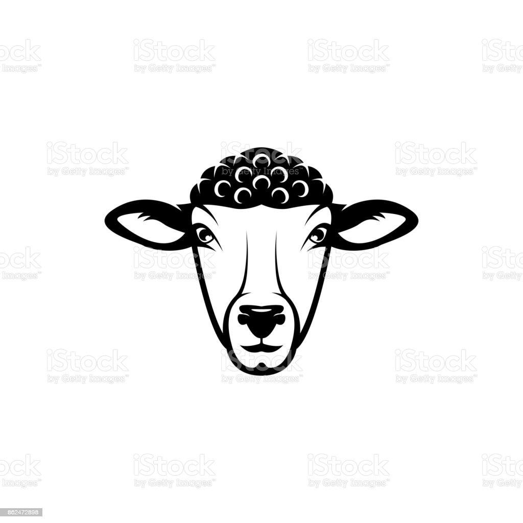 Vector Sheep Head Face For Retro S Emblems Badges Labels