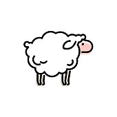 Vector sheep icon design.