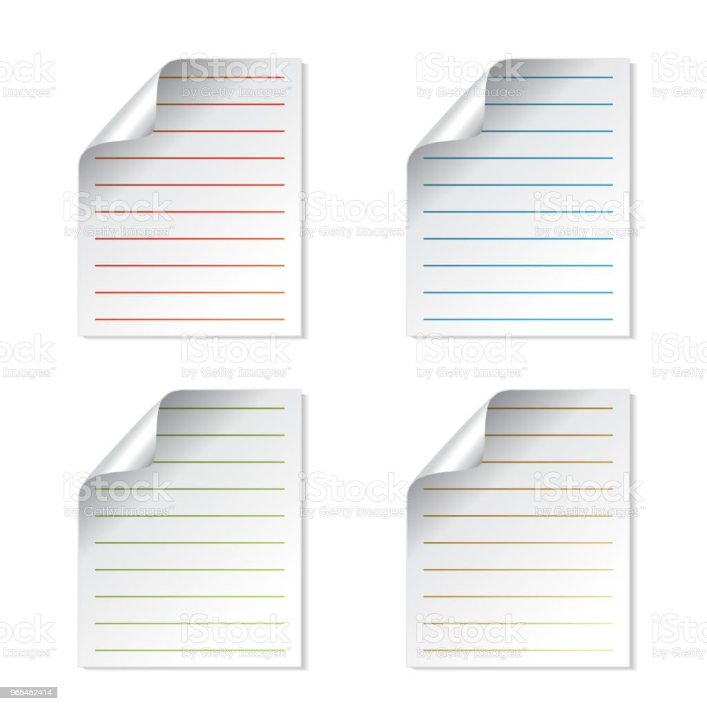 Vector sheets of paper, document symbol, file icon royalty-free vector sheets of paper document symbol file icon stock vector art & more images of blank