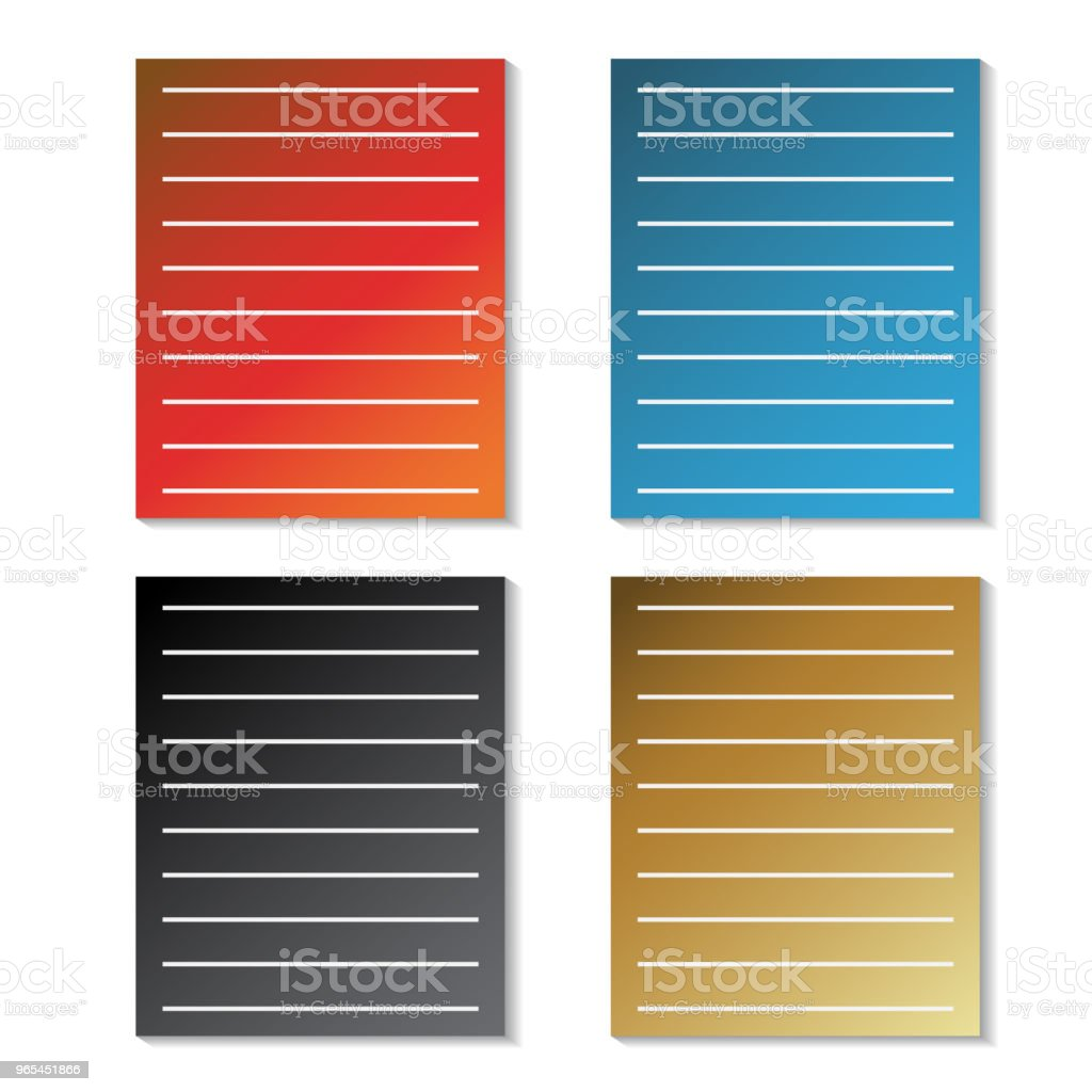Vector sheets of paper - file symbol royalty-free vector sheets of paper file symbol stock vector art & more images of blank