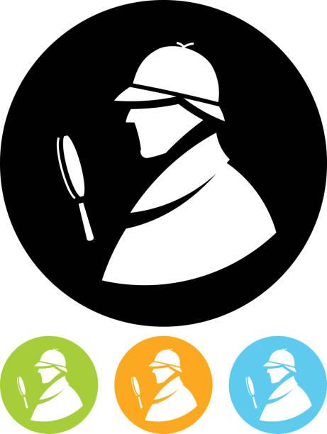 Vector Sherlock Holmes profile Detective Sherlock Holmes vector profile icon sherlock holmes stock illustrations