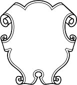 vector ornate shield motif
