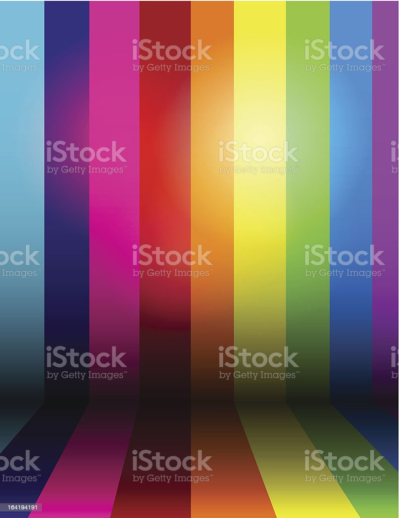 Vector shiny rainbow background vector art illustration