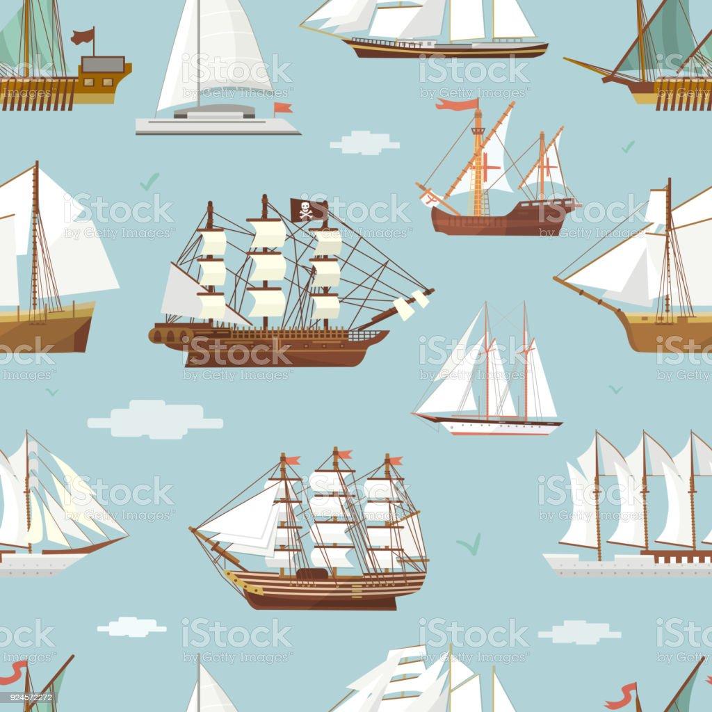 Ilustración de Vector Barco Barco Miniatura Buque Viejo Velero ...