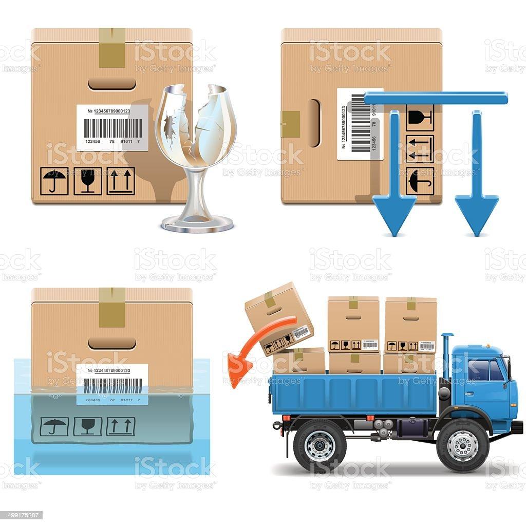 Vector Shipment Icons Set 31 vector art illustration