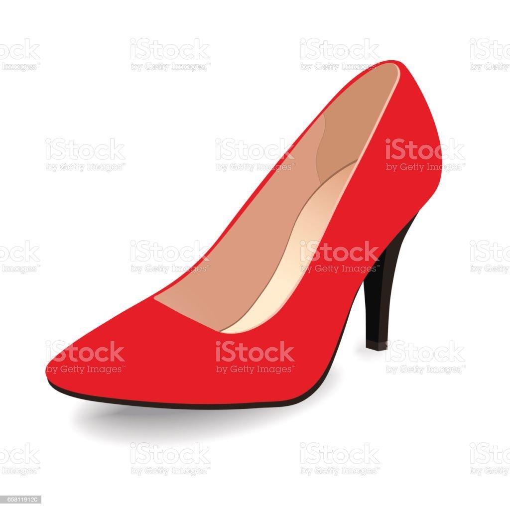 clásico en tacón punta zapatos zapato zapatos el vector barco rojo barco aislado Vector E8pqYn