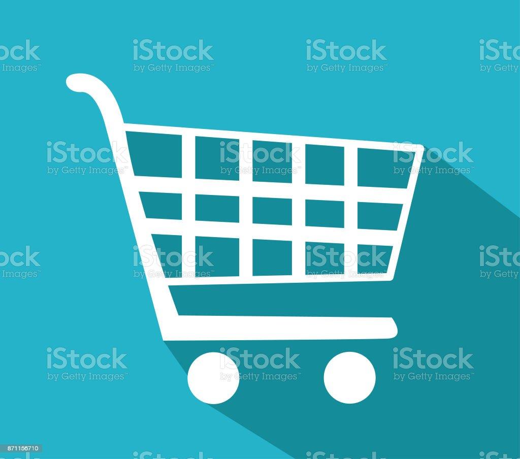 Vector shopping cart icon vector art illustration