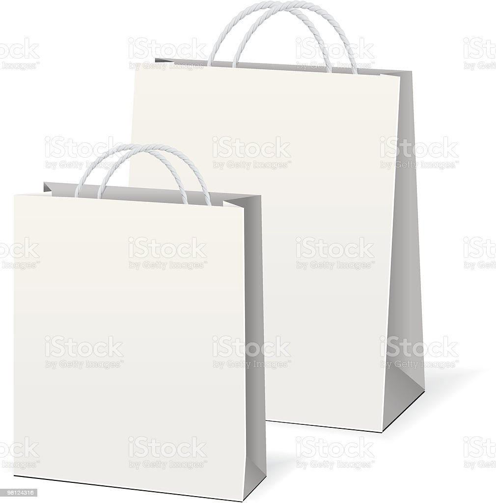 Vector shopping paper bags royalty-free vector shopping paper bags stock vector art & more images of bag