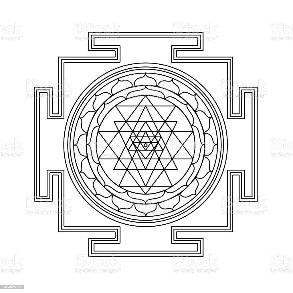 Vector shri yantra vector art illustration